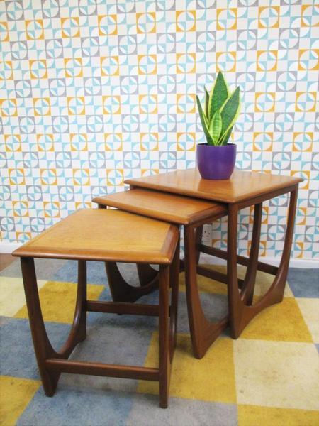 Vintage 1970's G Plan Astro Nest Of 3 Teak Tables Mid Century Retro Danish Home