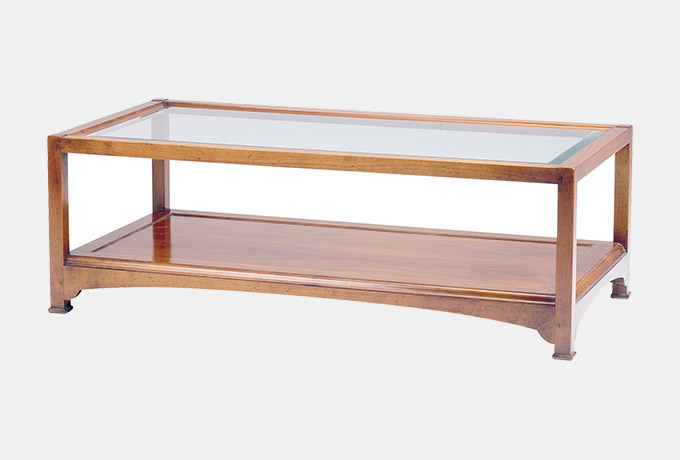 Wesley   Barrell: Anjou Glass Top Coffee Table