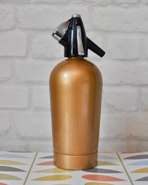 Vintage Retro Bronze Gold Soda Siphon, Vintage Cocktail Siphon, Vintage Drinks Maker