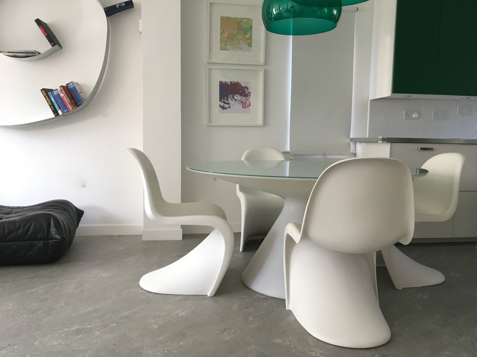 Four Genuine Vintage Retro Design White Verner Panton Chairs By ...