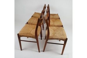 Thumb danish rosewood gs61 dining chairs by arne wahl iversen for glyngore stolefabrik set of 6 1960s 0