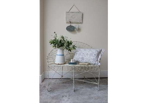 Lovely Compact Two Seater Wire Work Garden Bench Or Love Seat