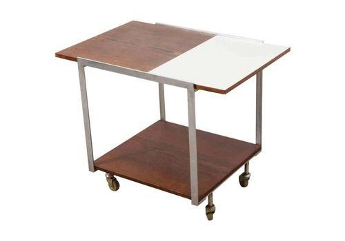 Mid Century Modern Rolling Bar/Serving Cart