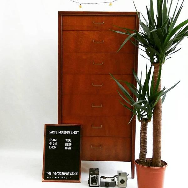 Chest Of Drawers/ Mid Century Dresser/  Teak Tallboy / Vintage Dresser/ Storage/ Vintage Furniture /Retro Chest Of Drawers/Mid Century Chest