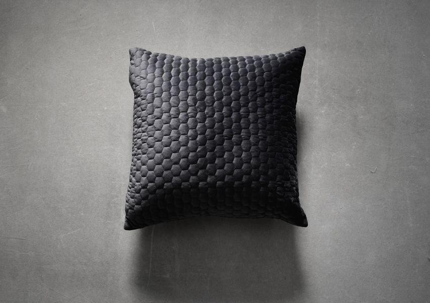 Beehive Cushion In Charcoal