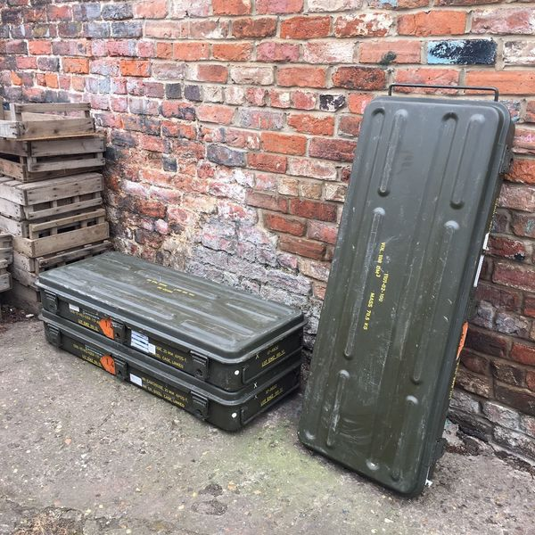 Green Army Metal Vintage Industrial Ammunition
