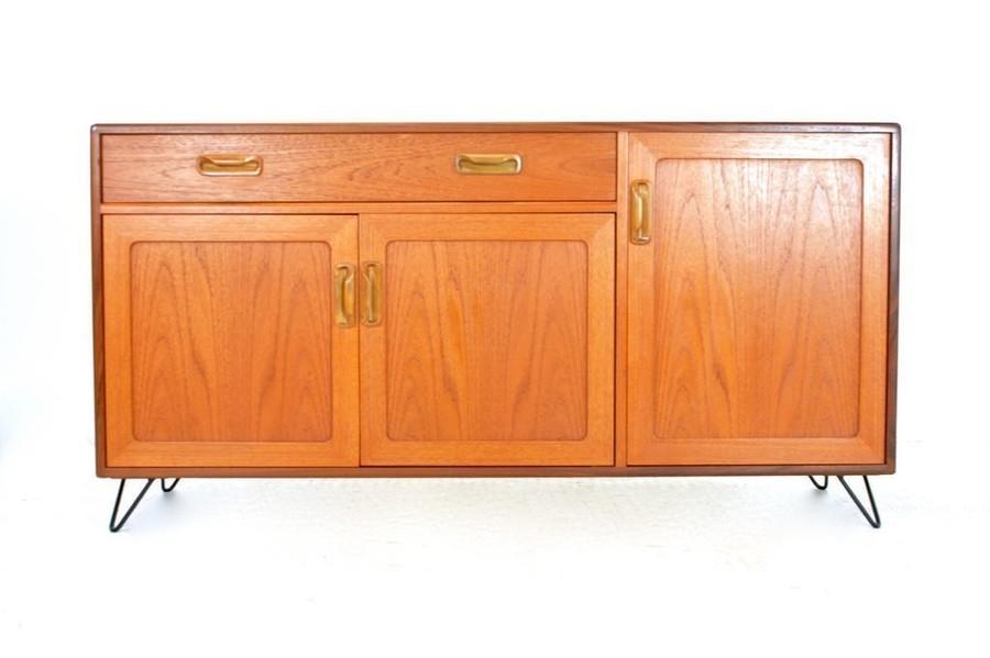 Vintage 1970s Teak G Plan Sideboard & Industrial Hairpin Legs