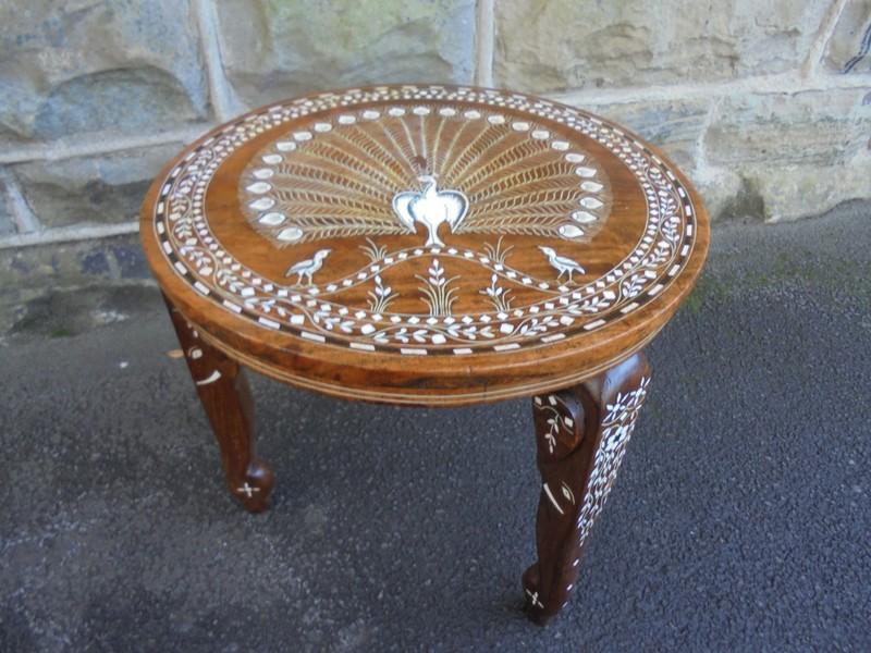 Antique Anglo Indian Inlaid Coffee Table
