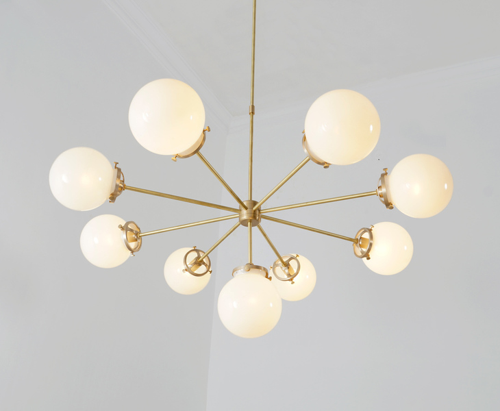 "Modernist Chandelier Glass Balls Pendant Lamp Ceiling Light Fixtures 38""Diam"