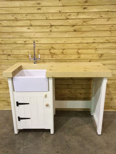 Pine Freestanding Small Belfast Butler Sink Unit Appliance Gap In Any Colour