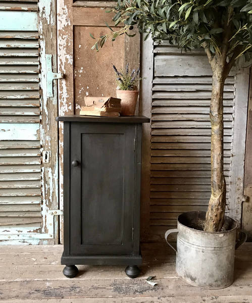 Vintage French Painted Bedside Table