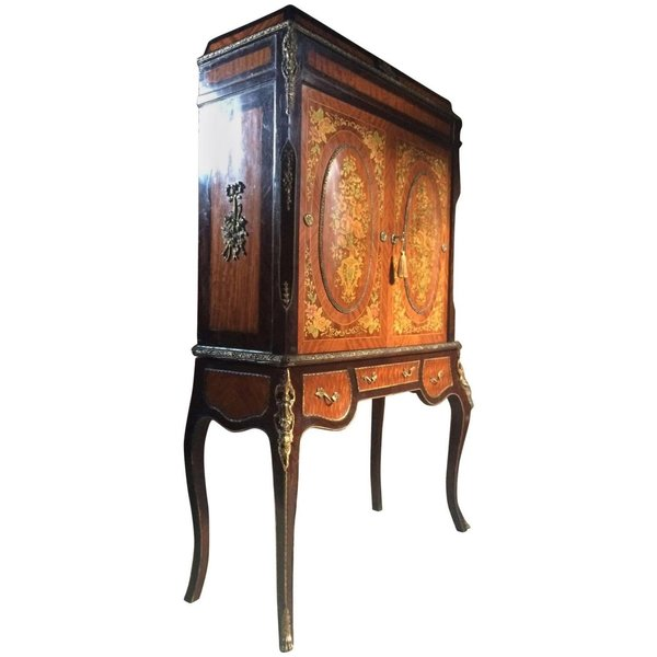 French Empire Style Drinks Cabinet Side Cabinet Louis Xv Style Kingwood