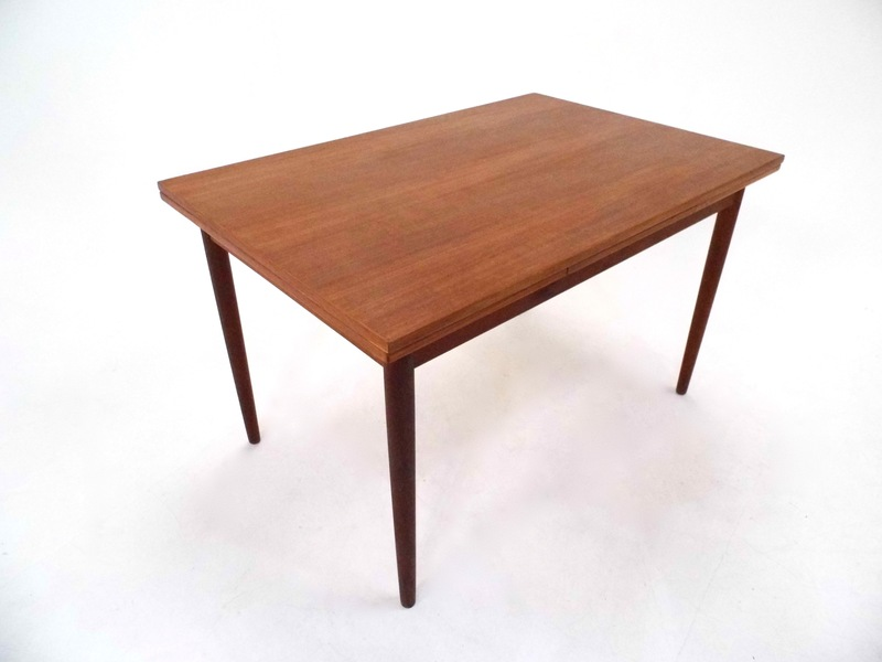 Danish Teak Extending Dining Table Midcentury 1960s
