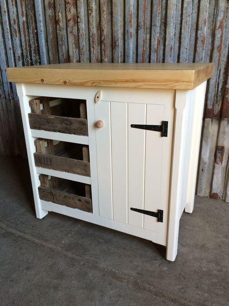 Nice Rustic Pine Freestanding Handmade Cupboard Storage Unit Farmhouse Bespoke