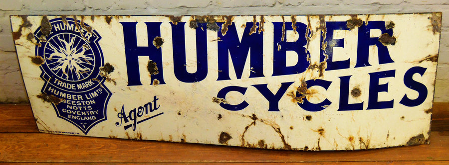 Humber Cycles Enamel Sign