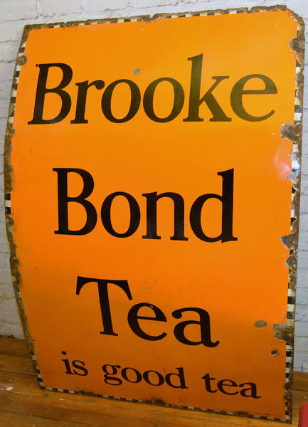 Brooke Bond Tea 1940s Advertising Enamel