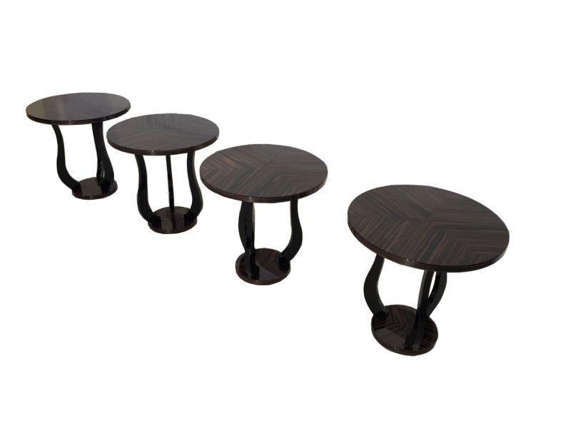 Macassar Art Deco Design Tables