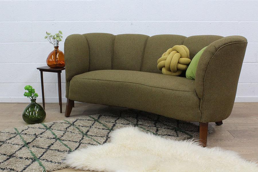 Two Seater Banana Sofa On Long Legs