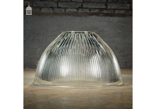 Industrial Holophane Endural No. 6692 A Ridged Glass Factory Light Shade
