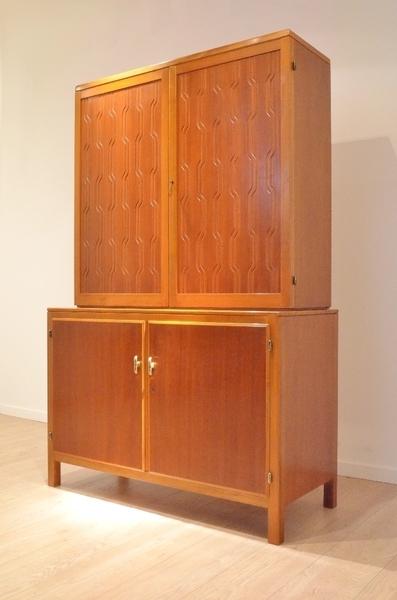 David Rosén Exotic Wood Cabinet By Nordiska Kompaniet 1953 Sweden