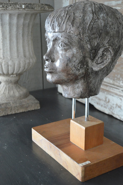 1960's Sculpture Of Childs Head