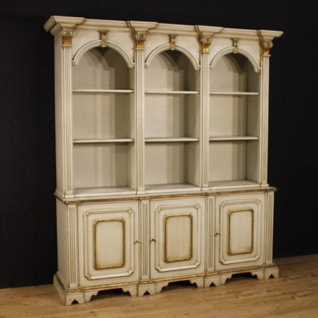 Italian Bookcase In Lacquered Wood