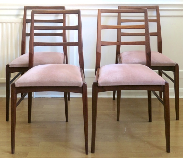 Stunning Set Of 6 Vintage Richard Hornby For Heals Fyne Ladye Afromosia Chairs. Delivery. Danish / Modern / Mid Century Style.