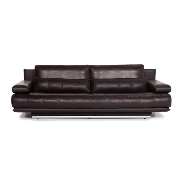 Rolf Benz 6500 Leather Sofa Brown Dark Brown Three Seater Function Couch #13343 | KeinDesigner | Rolf Benz | Vinterior