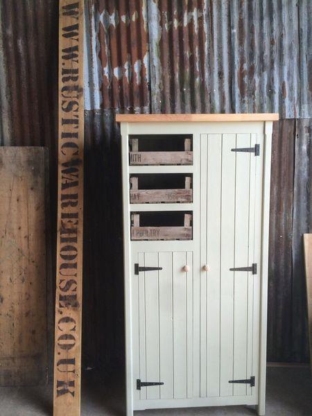 Kitchen Larder Cupboard Pantry Storage Unit Rustic Farmhouse Housekeepers Larder