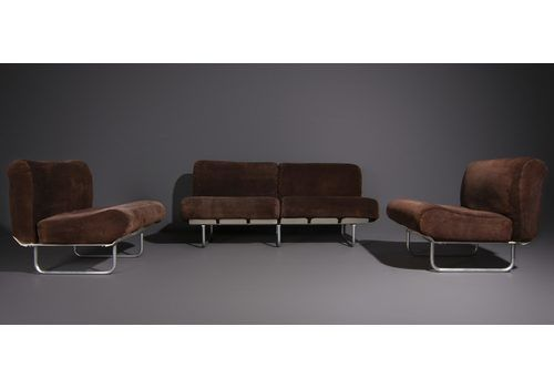 Living Room Set Model Senzafine Produced By Zanotta, Set Of 3