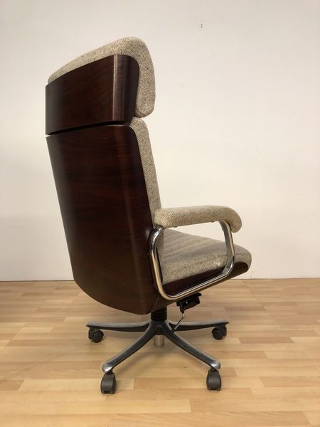 Vintage Mid Century Gordon Russell For Verco Rosewood And Wool Directors Chair