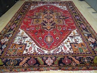 "Large Indo Persian Carpet Or  Rug ,  Hand Made  11ft 6"" X 8ft 1"
