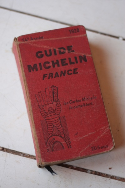 Vintage 1928 Original Michelin Guide To France
