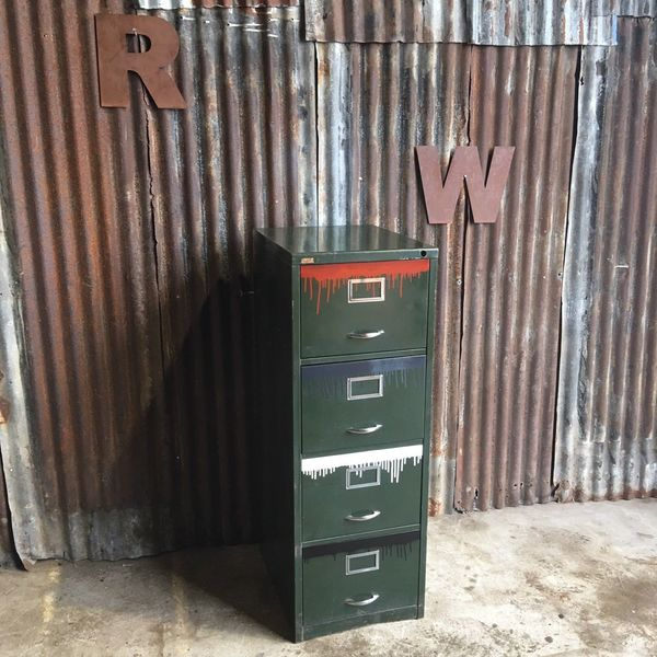 Metal Filing Drawers Vintage Cabinet Industrial Office Upcycled Loft Living Funk