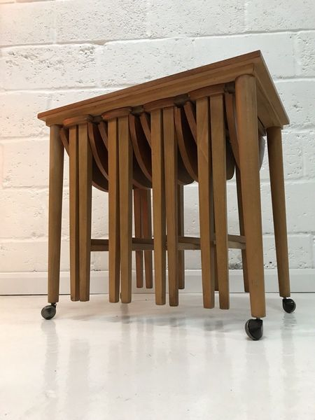 Teak Coffee Table, Trolley, Nest Of Tables