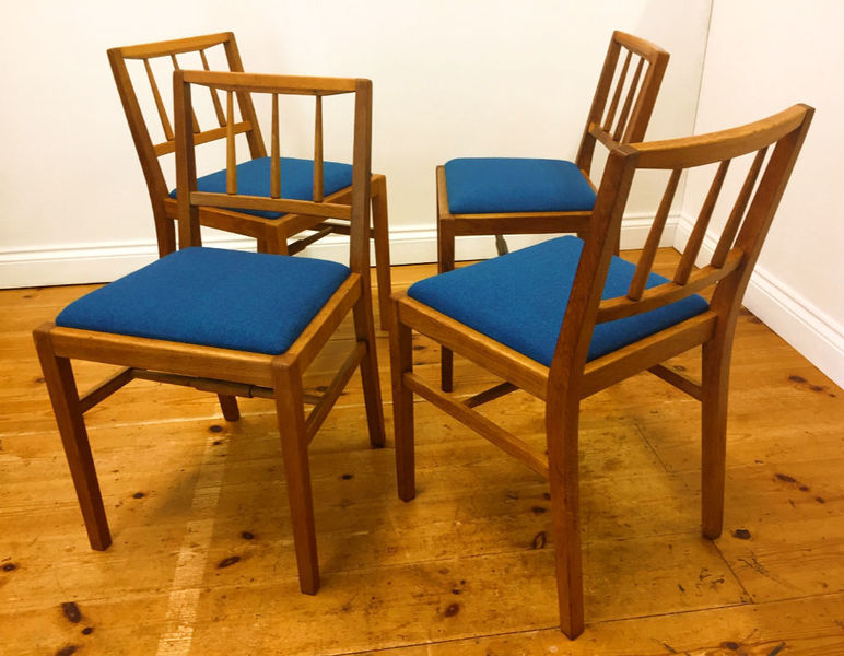Set Of 4 Rare G Plan Dining Chairs, Model B629