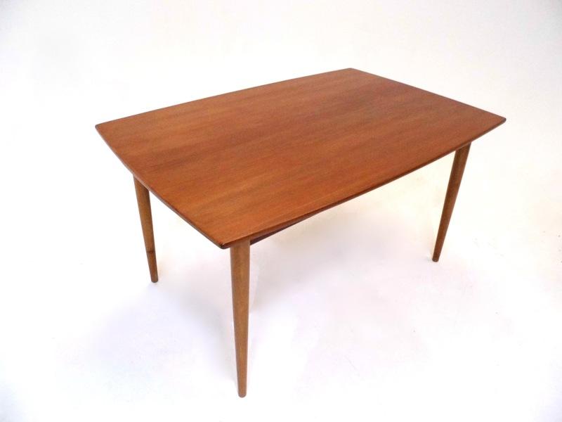 Danish Teak Extending Curved Dining Table Midcentury 1960s