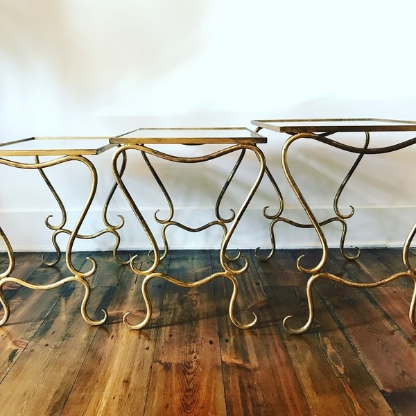 Nest Of French Side Tables Circa 1950's