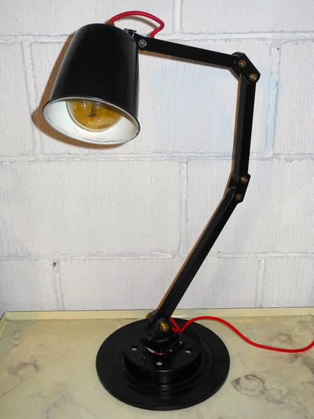 1960's British Made Memlite Factory Lamp