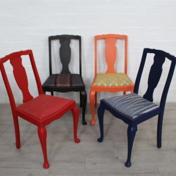 Early Ercol Chairs In Mix N Match Fusion Paints & Fabrics