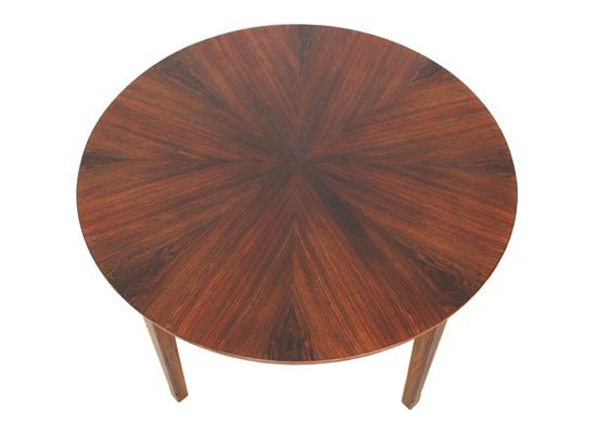Danish Rosewood Diamond Cut Dining Table