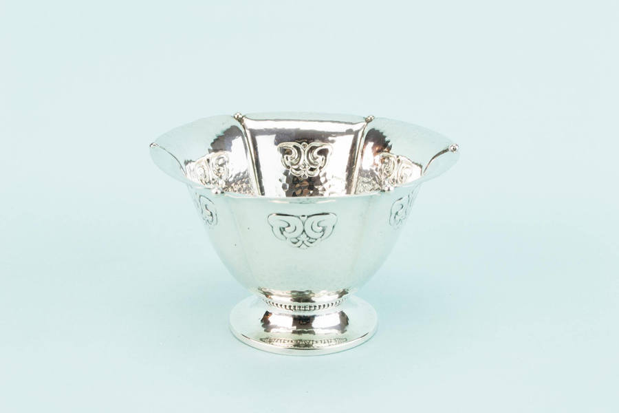 Small Sterling Silver Serving Bowl Art Deco Fritz Heimburger Vintage Danish 1927 / Pre Xmas Delivery Gift