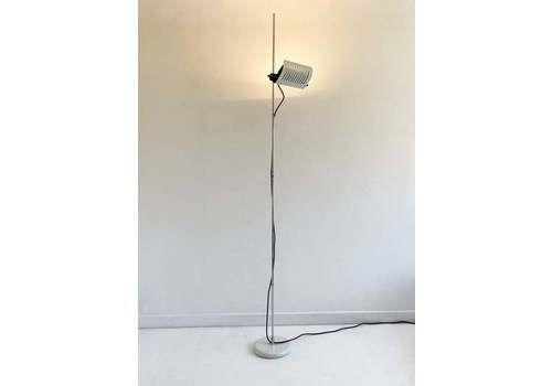 White Model 626 'Alogena' Metal Floor Lamp By Joe Colombo For Oluce, C.1970