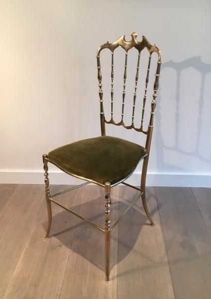Chiarivari Brass Chair. Circa 1960