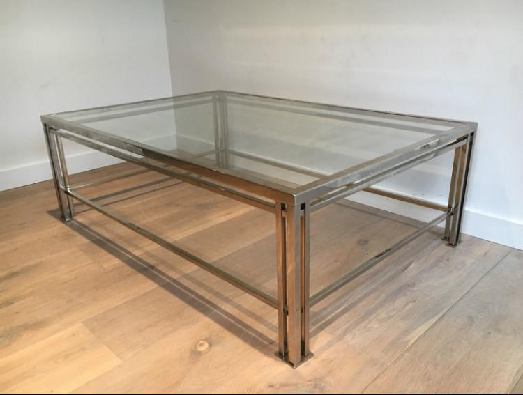 Modernist Chrome Coffee Table. Circa 1970