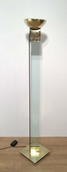 Nice Glass And Brass Floor Lamp. Circa 1970