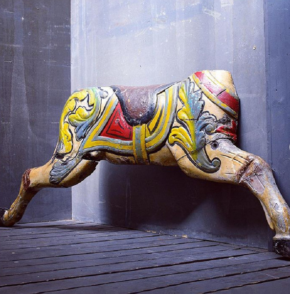 Early English Wooden Carousel Horse / Galloper