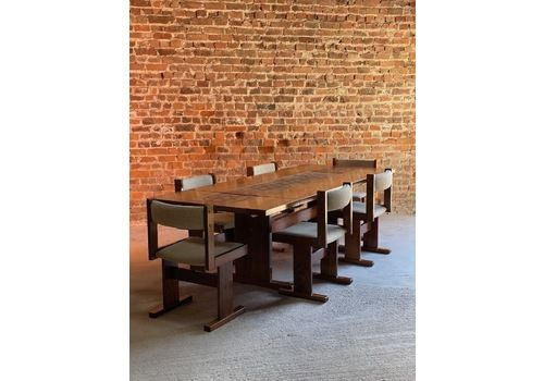 Gangso Mobler Rosewood Dining Table & Six Chairs Poul H. Poulsen Denmark Circa 1978