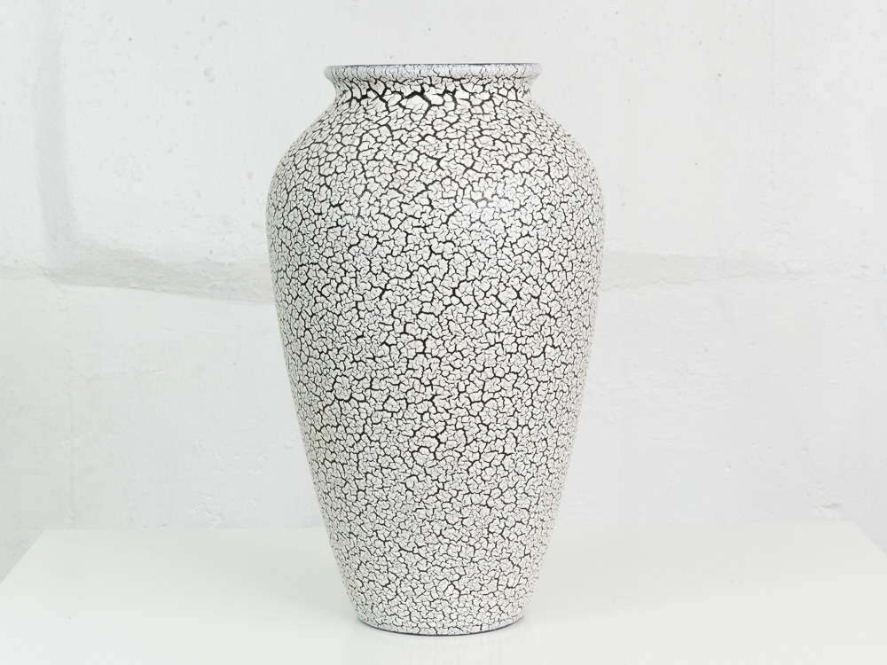 Large 1960's Jasba Fat Lava Crackle Glaze Vase