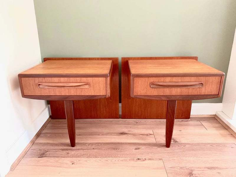 large g plan fresco bedside drawers vintage g plan floating bedside tables mid century g plan teak night stands danish furniture gplan retro 0